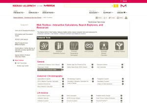 Sigma-Aldrich Web Toolbox