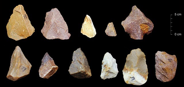 Stone tools found by Indian scientists