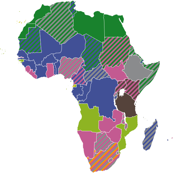 Map Of Francophone Africa.Policy Engagement And Communications Lessons Learnt From