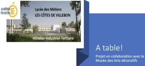 """« À table ! », le Musée des Arts Décoratifs avec le lycée """"Les côtes de Villebon"""" de Meudon"""