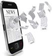 imagem de noticias em um celular