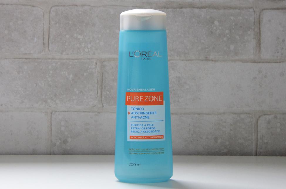 Resenha: Tônico Adstringente Anti-Acne Pure Zone  L'oréal Paris