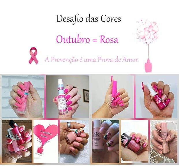 Desafio dos Esmaltes - Rosa