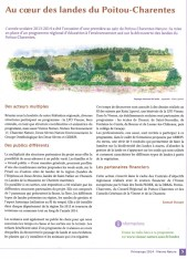 Au cœur des landes du Poitou-Charentes, Vienne Nature Printemps 2014