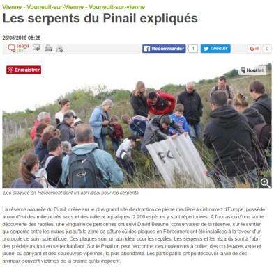 Sortie nature reptile 2016, Nouvelle République