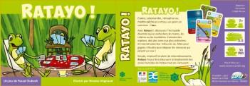 Couverture et règles du jeu Ratayo !