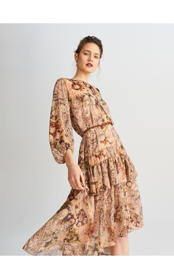Midi dress in print