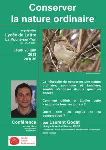Conférence sur la nature ordinaire de Laurent Godet
