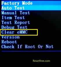 Android Mobile - Clear eMMC option