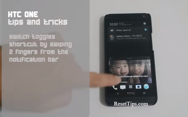 Factory reset htc m7 - switch toggles shortcut