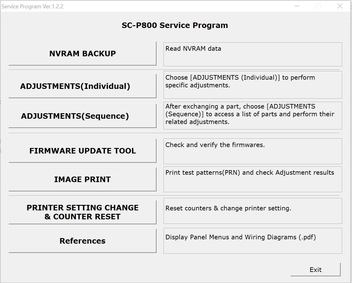 Manual Service program for Epson SureColor S30600