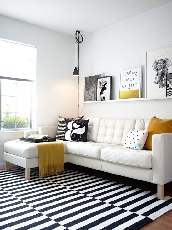 Contemporary Living Room Designs Ideas White Sofa