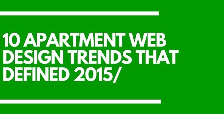 Apartment Web Design Trends 2015