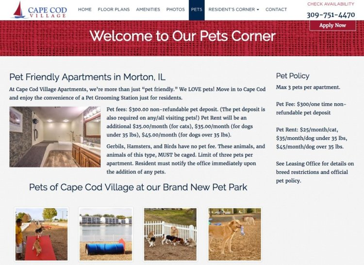 Apartment Marketing - Pet Amenities