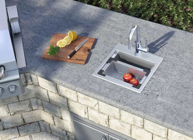 a new outdoor kitchen sink for small