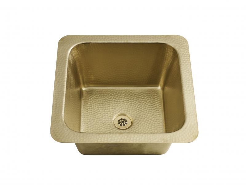hand hammered brass sinks