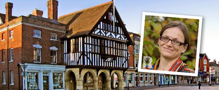 Saffron Walden Town Hall with Cllr Sharon Morris