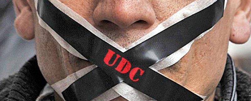 Banner: UDC gag's public