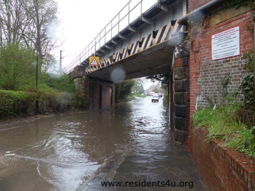 Newport's railway bridge regularly floods in severe weather