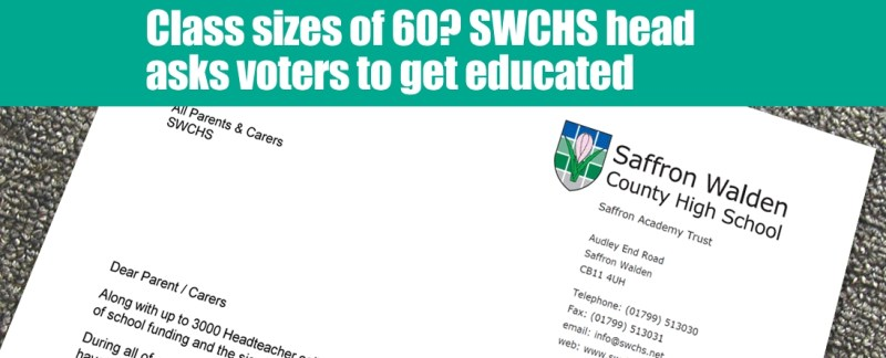 Class sizes of 60? SWCHS head asks residents to think about education cuts when they vote