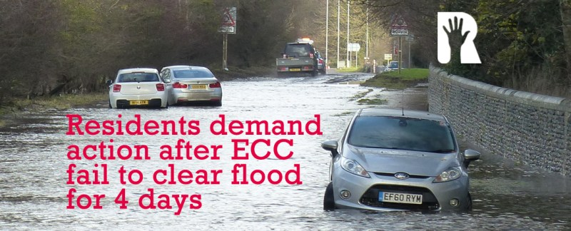 R4U demands urgent action after days of ECC failure to clear flood on major closed road between Newport and Saffron Walden