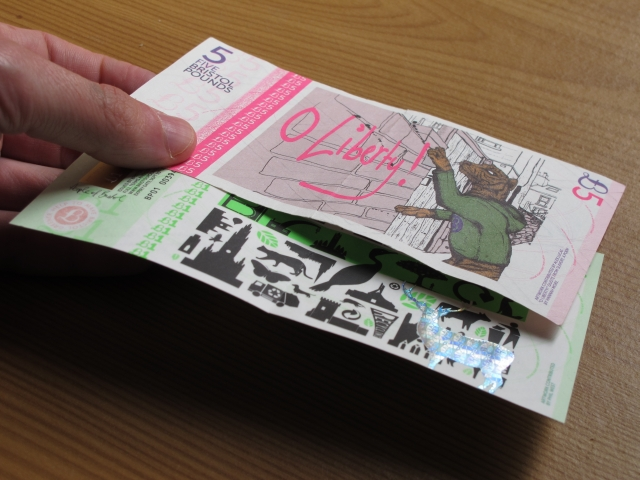 Bristol Pound notes (August 2014). Photo by Ratoncito Perez.