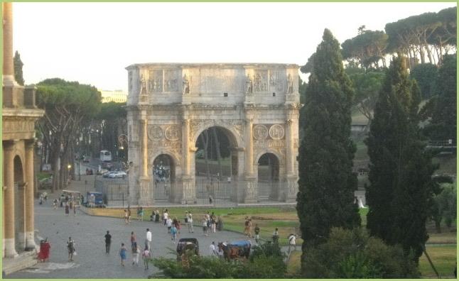 Arc de l'empereur romain Titus à Rome
