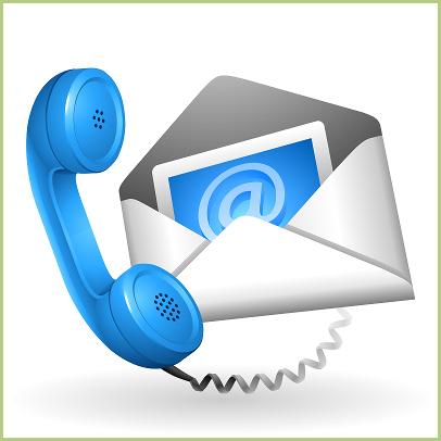 Contatto mail-telefono per la pagina di contatto