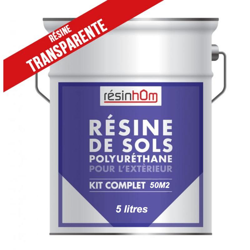 resine polyurethane sol exterieur transparente 5 litres 50m2