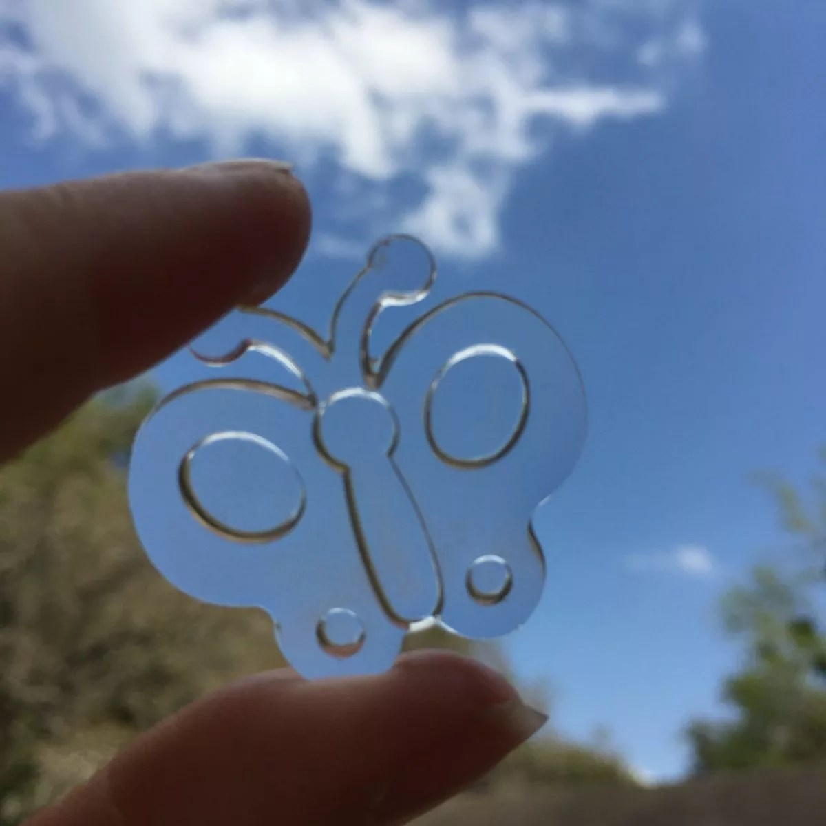 super clear casting resin butterfly charm