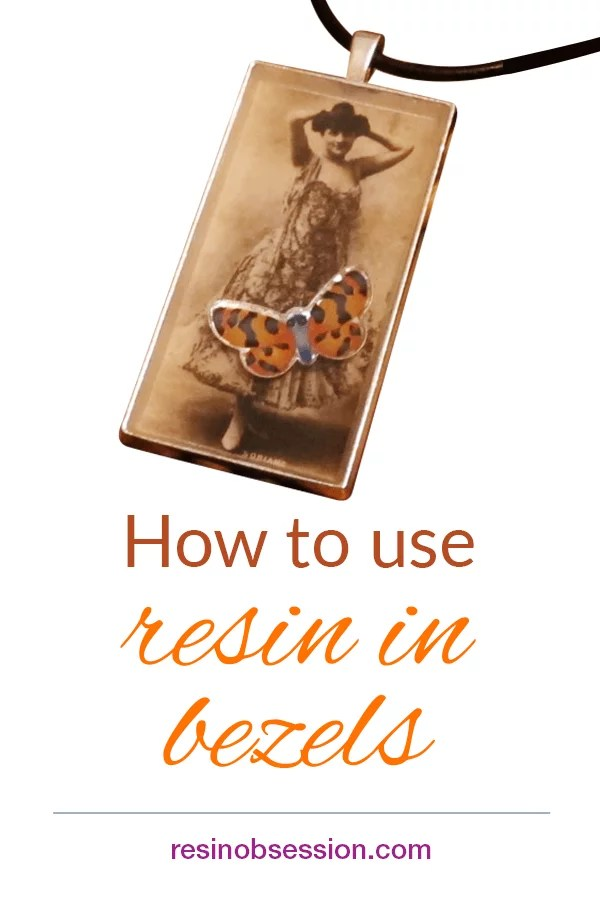 How to make a resin pendant in a bezel