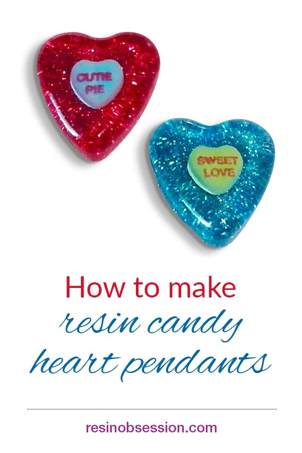 How to make resin candy heart pendant