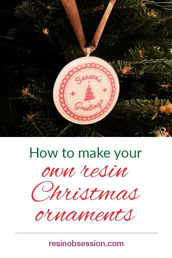 make Christmas ornament with resin
