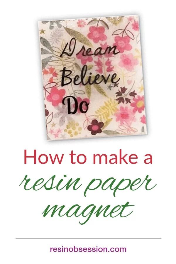 resin paper magnet tutorial