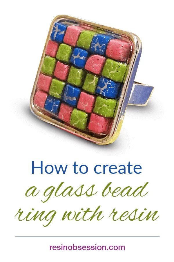 How to make a bead ring with resin