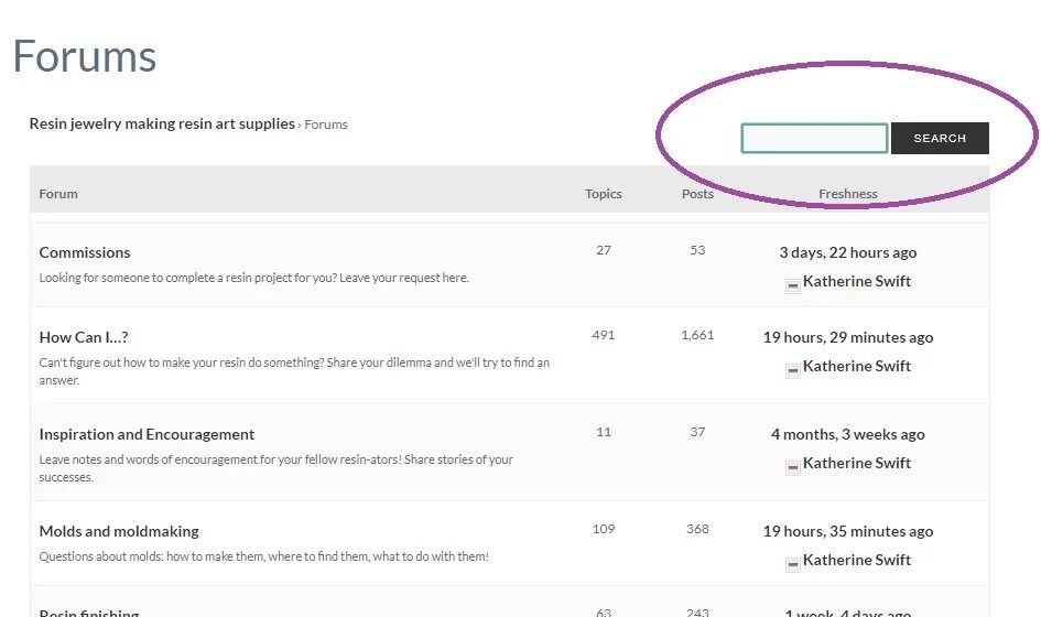 forum search box