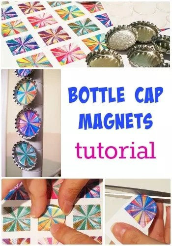 bottle cap magnet tutorial