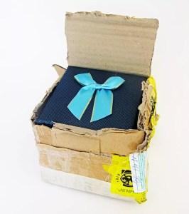 jewelry box inside cardboard box