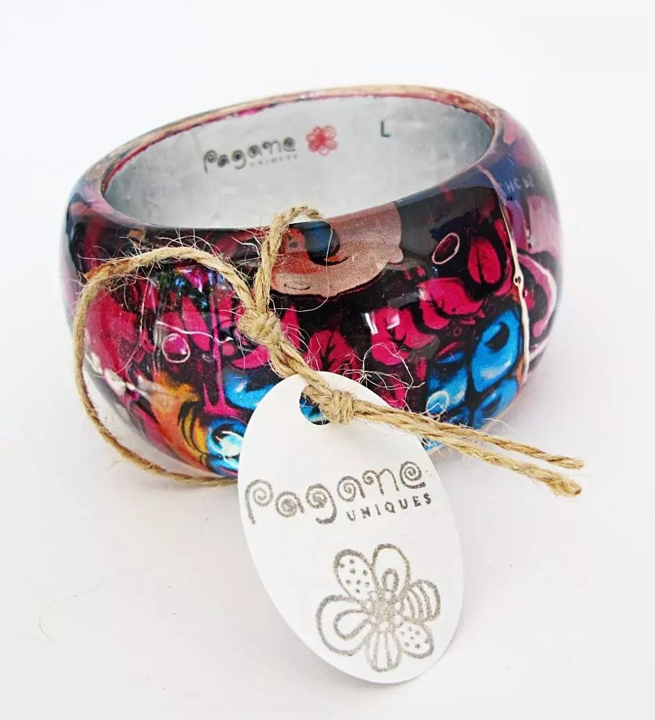 colorful resin bangle bracelet