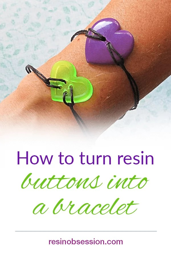How to make a bracelet with resin buttons