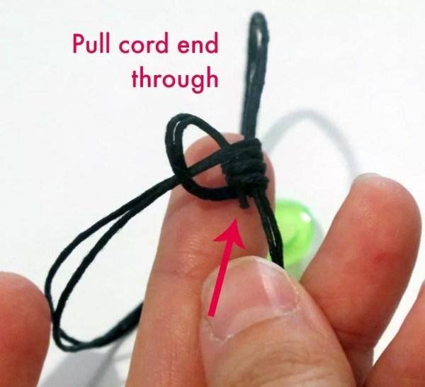 pull end through coil