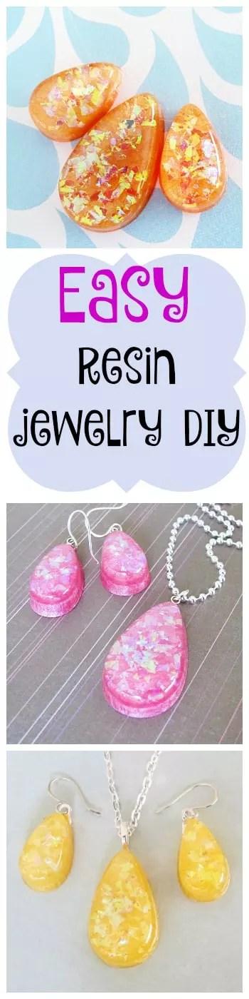 easy resin jewelry DIY
