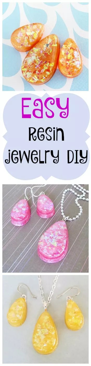 easy resin jewelry DIY