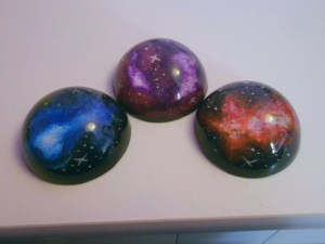 galaxy resin paperweights