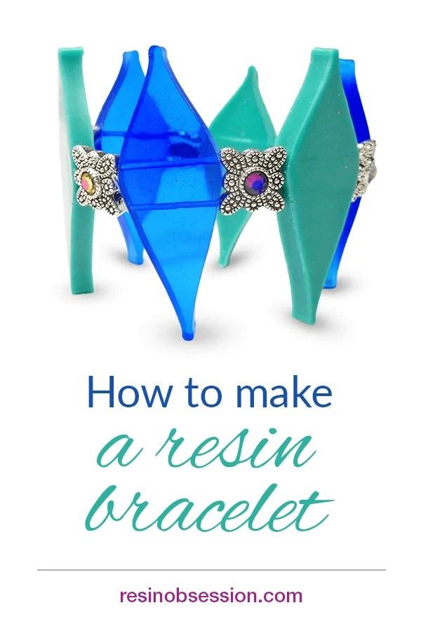 How to make a resin diamonds bracelet