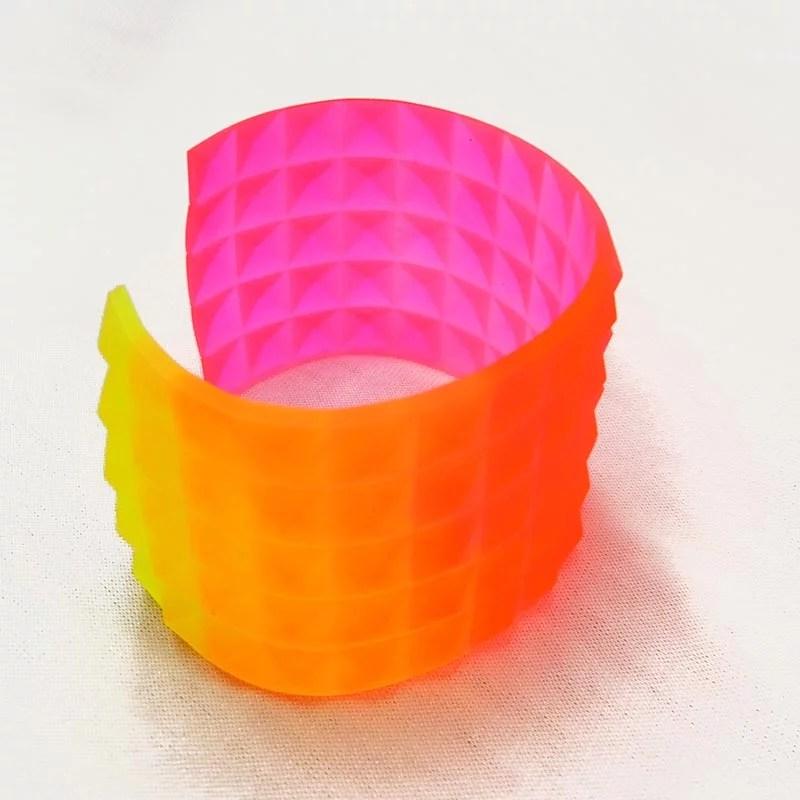 neon ombre resin cuff