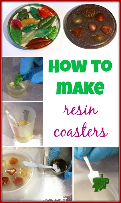 how to make resin coasters