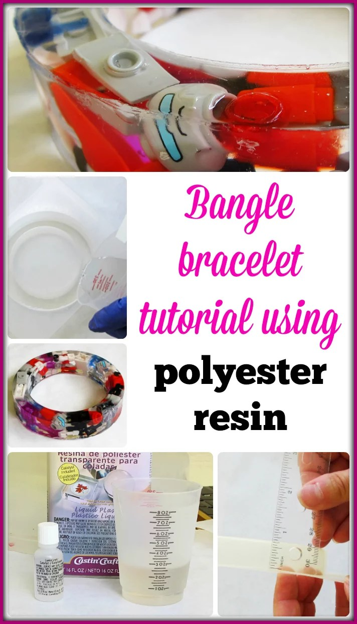 Bangle bracelet tutorial using polyester casting resin