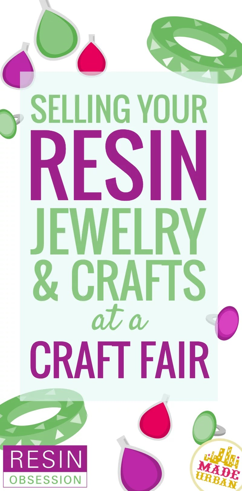 selling resin jewelry and crafts