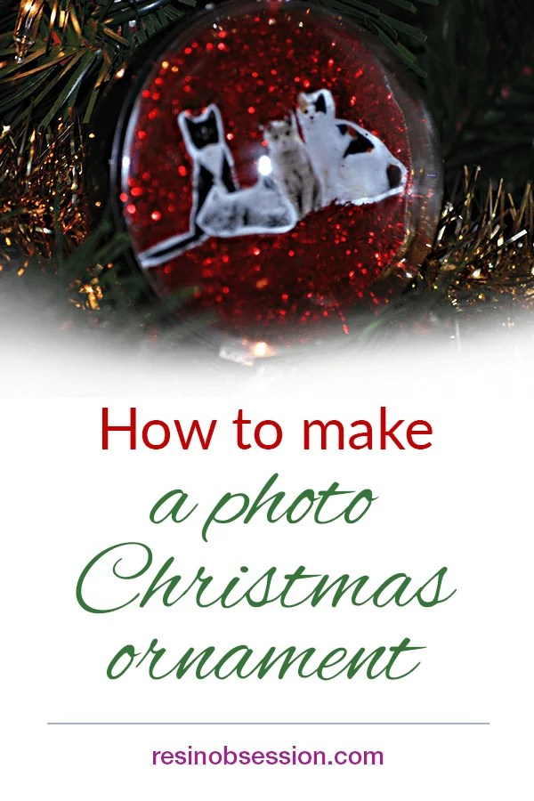 How to make a photo Christmas ornament